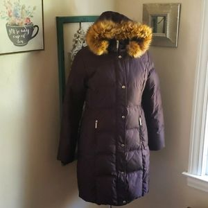 Michael Kors down parka brown long winter coat